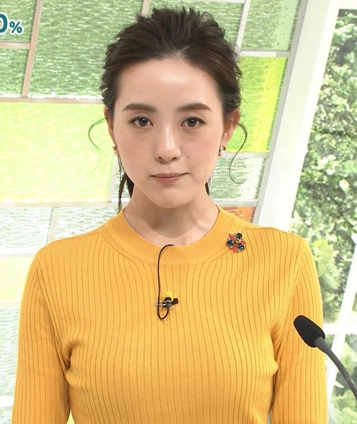 古谷有美アナ ピチピチのニットおっぱいキャプ・エロ画像5