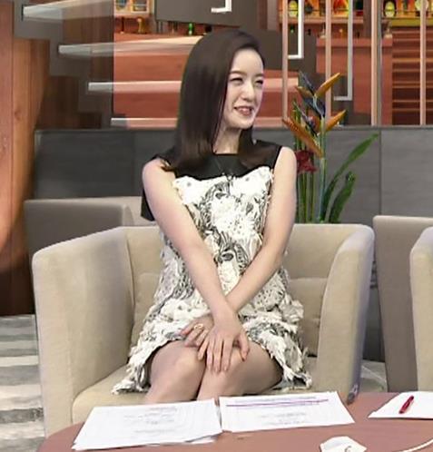 古谷有美アナ ミニスカで座ってパンツ見えそうキャプ・エロ画像3