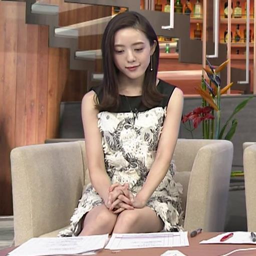 古谷有美アナ ミニスカで座ってパンツ見えそうキャプ・エロ画像4