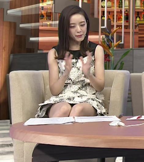 古谷有美アナ ミニスカで座ってパンツ見えそうキャプ・エロ画像5