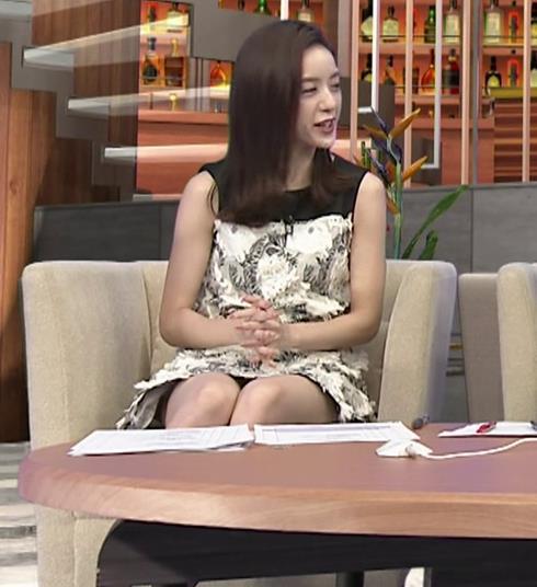 古谷有美アナ ミニスカで座ってパンツ見えそうキャプ・エロ画像6