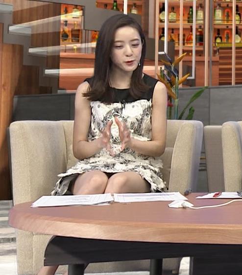 古谷有美アナ ミニスカで座ってパンツ見えそうキャプ・エロ画像9