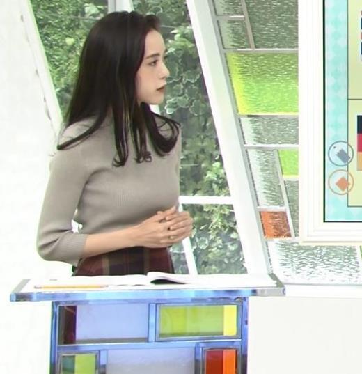 古谷有美アナ 乳強調キャプ画像(エロ・アイコラ画像)