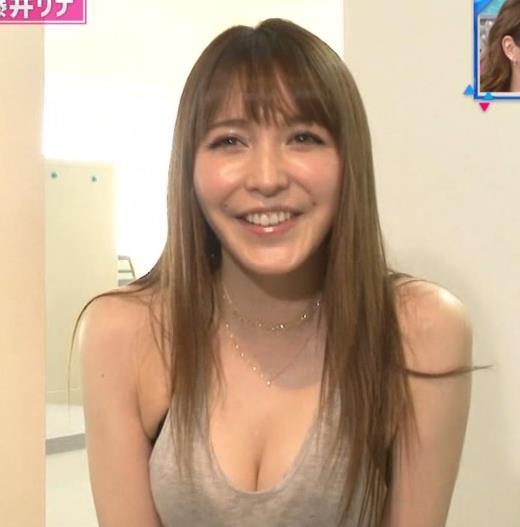 藤井リナ 久しぶりのTVでおっぱい見せまくりキャプ画像(エロ・アイコラ画像)