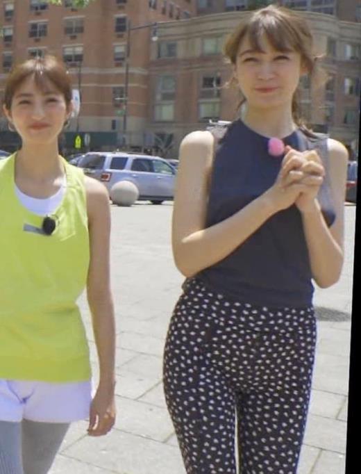 藤井サチ 股間とお尻がエロいヨガ衣装姿キャプ画像(エロ・アイコラ画像)