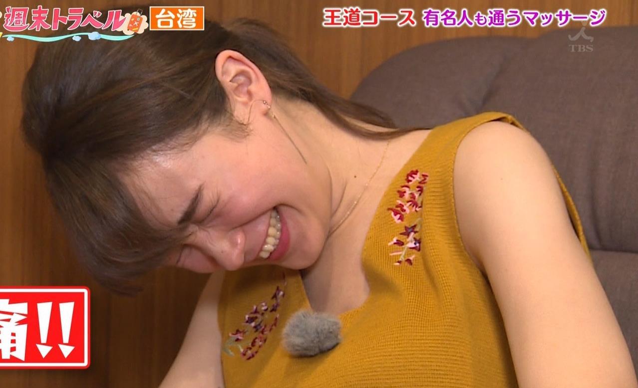 藤井サチ 激痛足つぼマッサージで太ももチラキャプ・エロ画像6