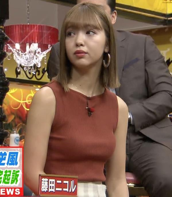 藤田ニコル エッチなニットおっぱいキャプ・エロ画像4