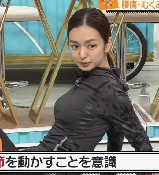 後藤晴菜アナ もはやエロ目的で見てる人の方が多そうなエクササイズコーナーキャプ画像(エロ・アイコラ画像)