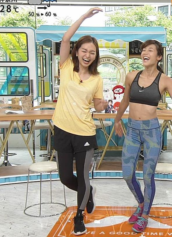 後藤晴菜アナ Tシャツおっぱいを突き出してエロいことにキャプ・エロ画像2