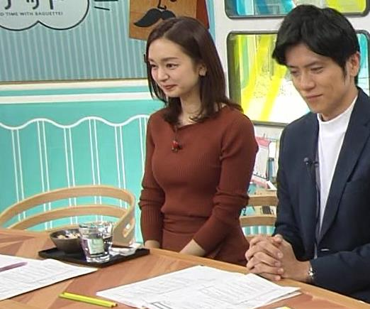 後藤晴菜アナ エロいニットおっぱいキャプ・エロ画像2