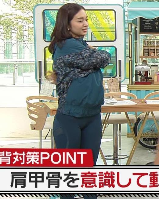 後藤晴菜アナ スパッツで股間とお尻が大変なことに!!キャプ・エロ画像6