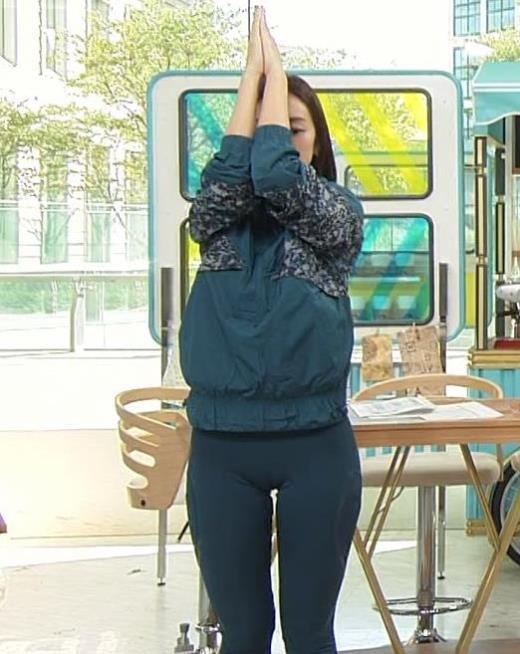 後藤晴菜アナ スパッツで股間とお尻が大変なことに!!キャプ画像(エロ・アイコラ画像)