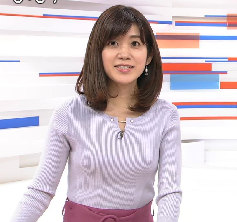 合原明子アナ ニットおっぱいキャプ・エロ画像