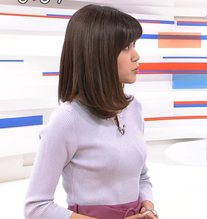 合原明子アナ ニットおっぱいキャプ・エロ画像2