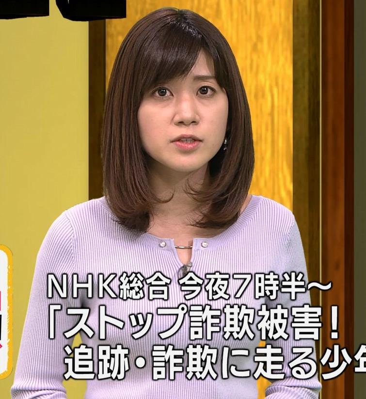 合原明子アナ ニットおっぱいキャプ・エロ画像5