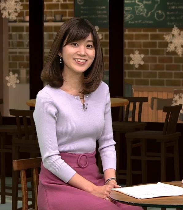 合原明子アナ ニットおっぱいキャプ・エロ画像8