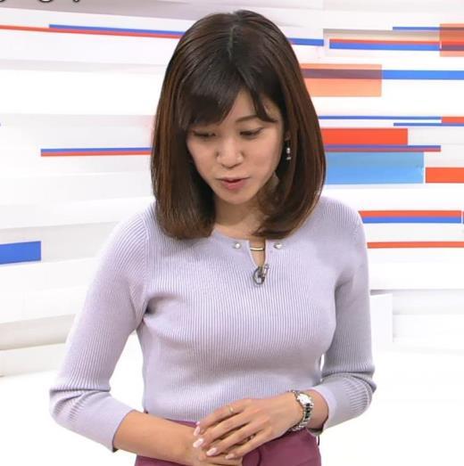 合原明子アナ ニットおっぱいキャプ画像(エロ・アイコラ画像)