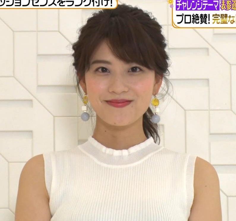郡司恭子アナ ニット横乳★キャプ・エロ画像