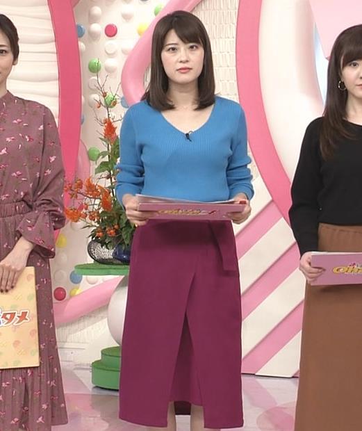 郡司恭子アナ 胸元が開いたニットキャプ・エロ画像6
