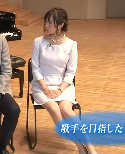 繁田美貴アナ ミニスカ美脚。生足がエロい・・・。キャプ・エロ画像
