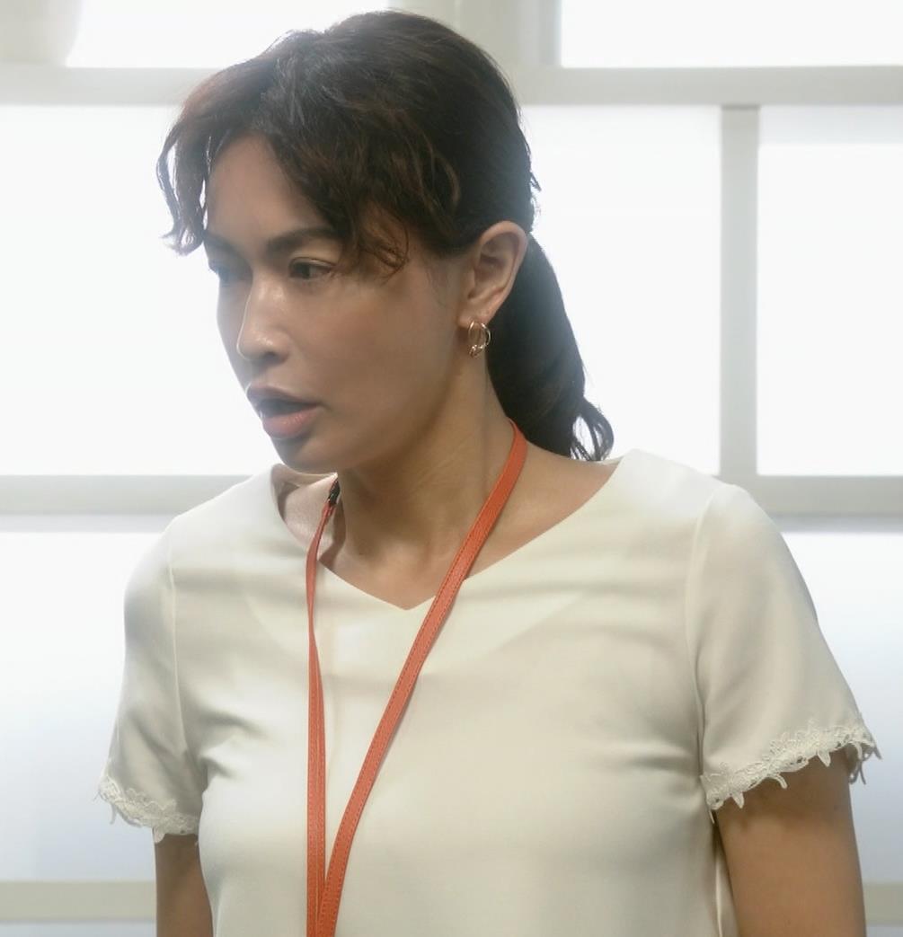 長谷川京子 ちょっとおっぱいがエロい服キャプ・エロ画像2