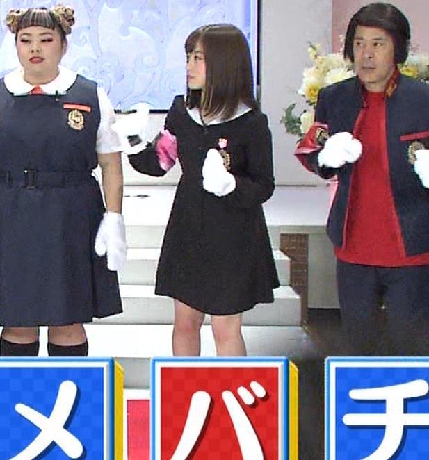 橋本環奈 ミニスカ太ももがしゃがんで…。キャプ・エロ画像2