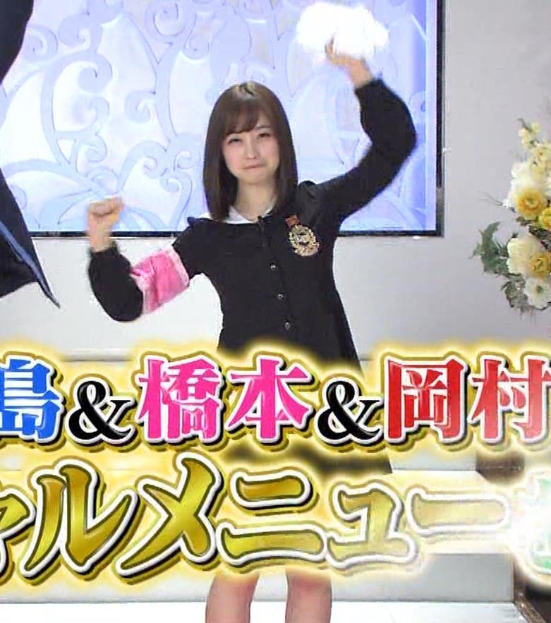 橋本環奈 ミニスカ太ももがしゃがんで…。キャプ・エロ画像6