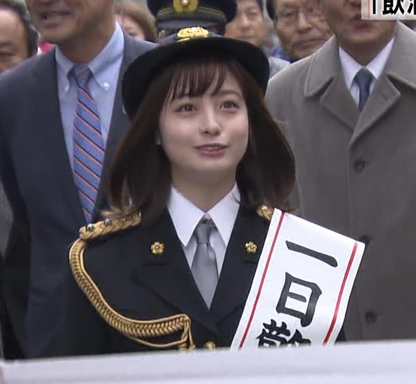 橋本環奈 一日警察署長が可愛すぎ!キャプ・エロ画像5