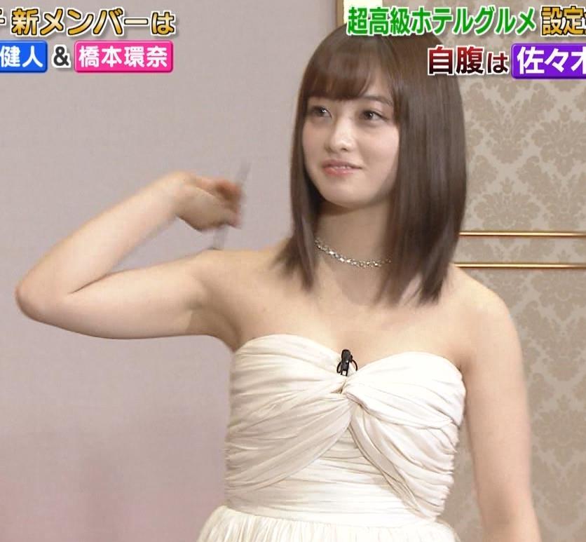橋本環奈 過激露出ドレスで胸の谷間を見せてくれる(ゴチ19新メンバー)キャプ・エロ画像5