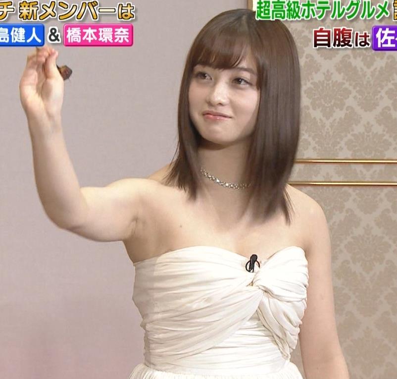 橋本環奈 過激露出ドレスで胸の谷間を見せてくれる(ゴチ19新メンバー)キャプ・エロ画像6