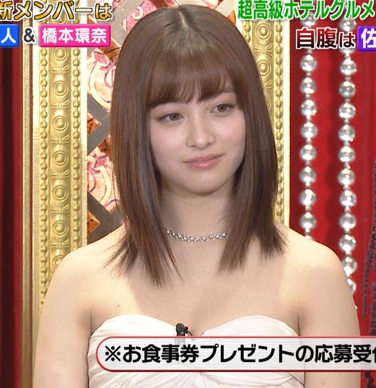 橋本環奈 過激露出ドレスで胸の谷間を見せてくれる(ゴチ19新メンバー)キャプ・エロ画像8
