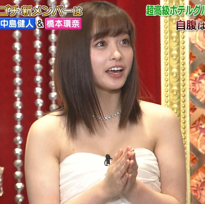 橋本環奈 過激露出ドレスで胸の谷間を見せてくれる(ゴチ19新メンバー)キャプ・エロ画像10