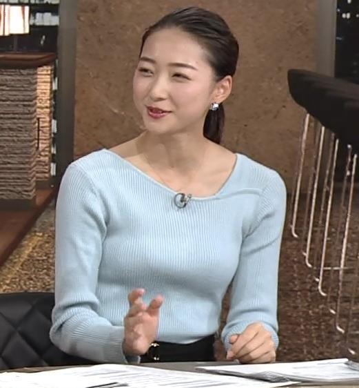 畠山愛理 美人ニットおっぱい(元新体操選手)キャプ・エロ画像6