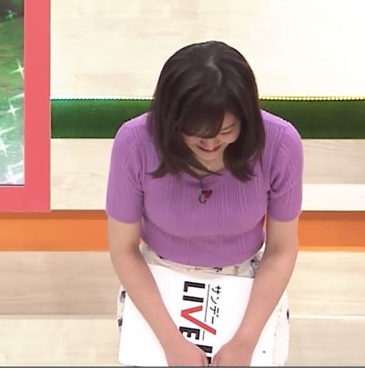 林美桜アナ テレ朝の若手女子アナのニットおっぱいキャプ・エロ画像