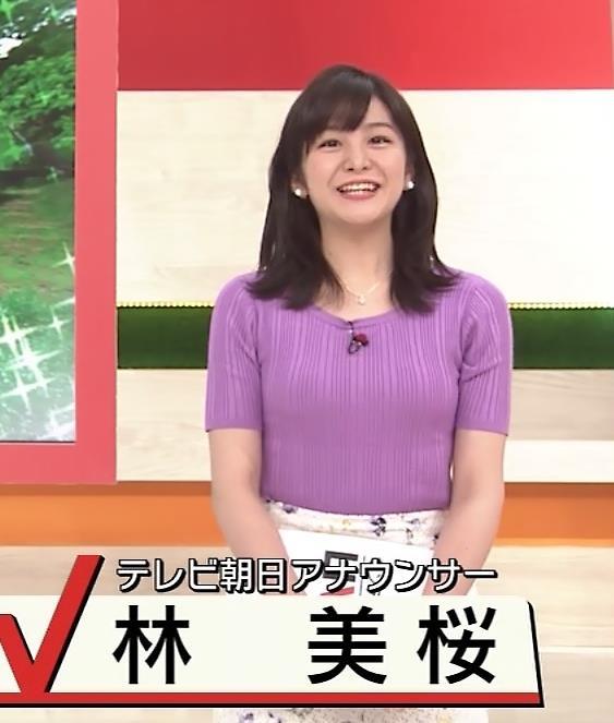 林美桜アナ テレ朝の若手女子アナのニットおっぱいキャプ・エロ画像2