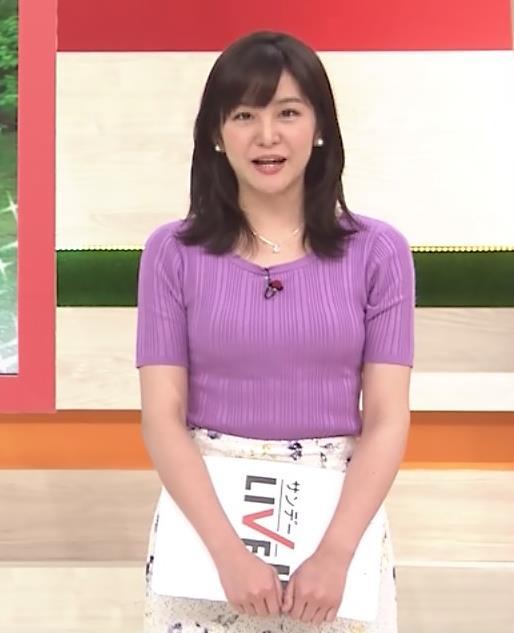 林美桜アナ テレ朝の若手女子アナのニットおっぱいキャプ・エロ画像3