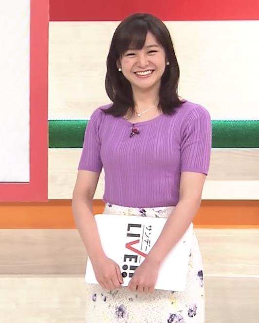 林美桜アナ テレ朝の若手女子アナのニットおっぱいキャプ・エロ画像5