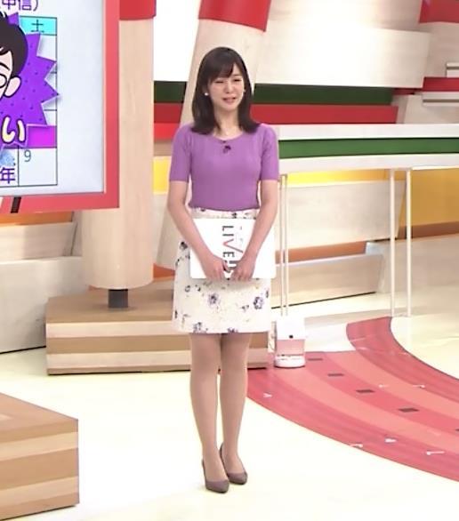 林美桜アナ テレ朝の若手女子アナのニットおっぱいキャプ・エロ画像6