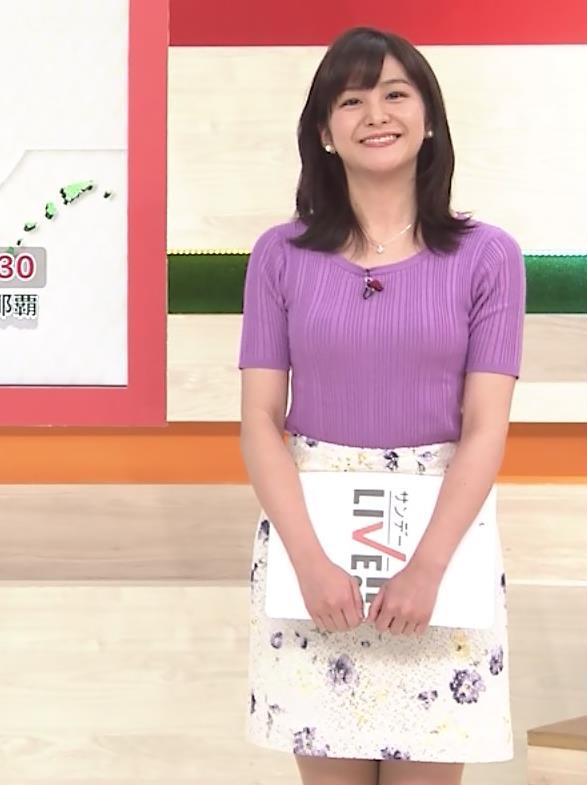 林美桜アナ テレ朝の若手女子アナのニットおっぱいキャプ・エロ画像7