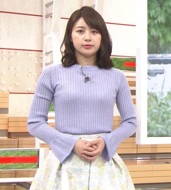 林美沙希アナ ニット♡おっぱいキャプ・エロ画像2