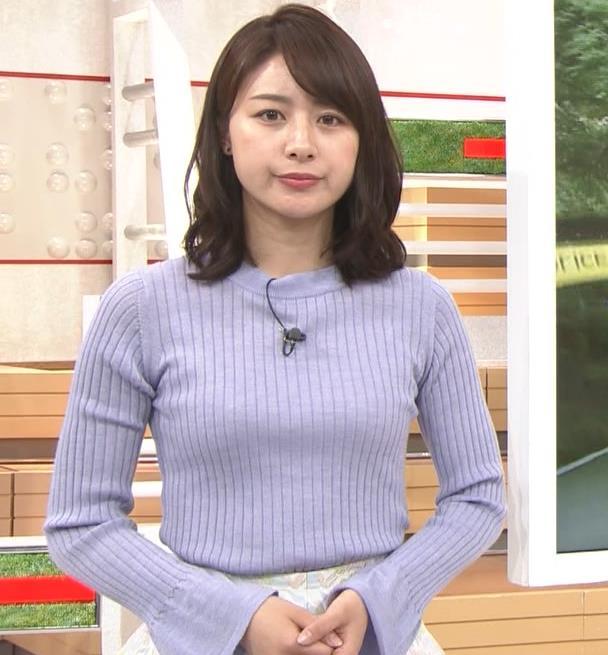 林美沙希アナ ニット♡おっぱいキャプ・エロ画像3