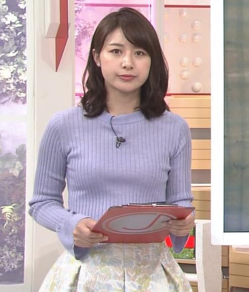 林美沙希アナ ニット♡おっぱいキャプ・エロ画像5