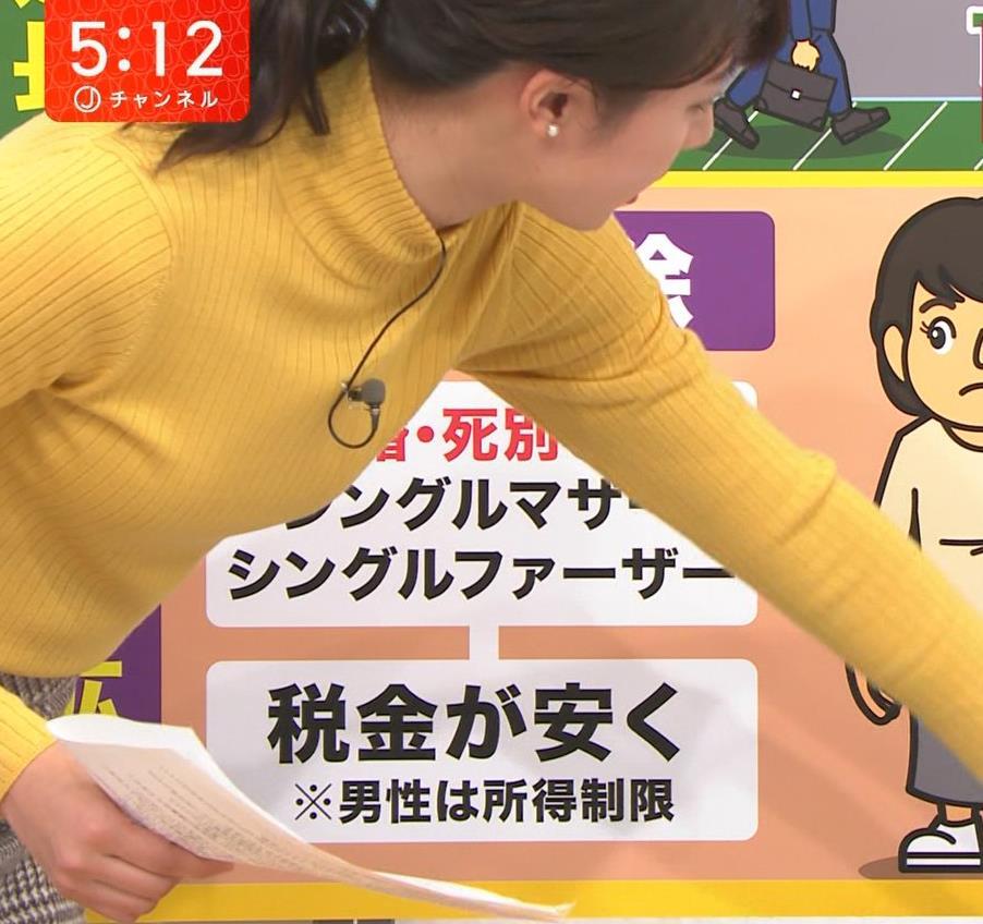 林美沙希アナ ニット微乳キャプ・エロ画像3