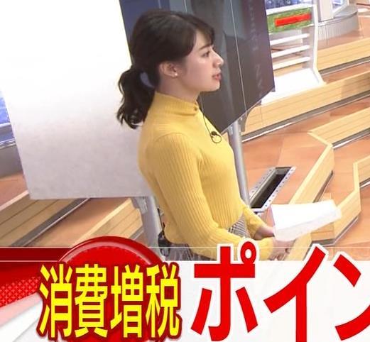林美沙希アナ ニット微乳キャプ・エロ画像5