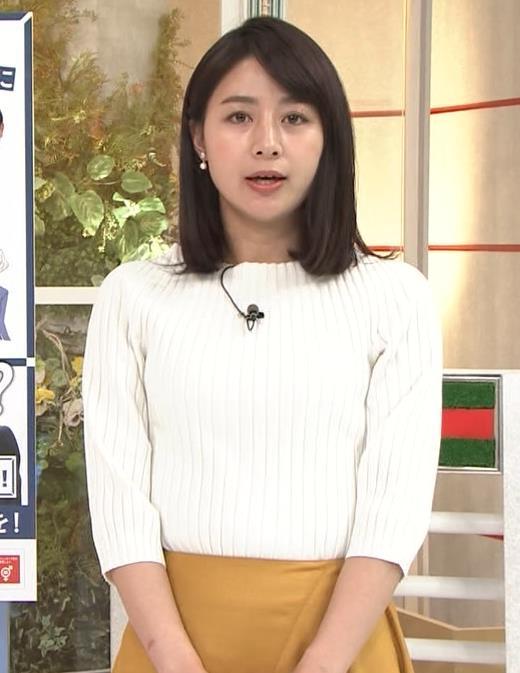 林美沙希アナ ニットおっぱいキャプ・エロ画像2