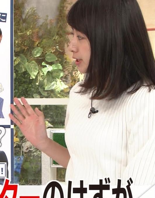林美沙希アナ ニットおっぱいキャプ・エロ画像3