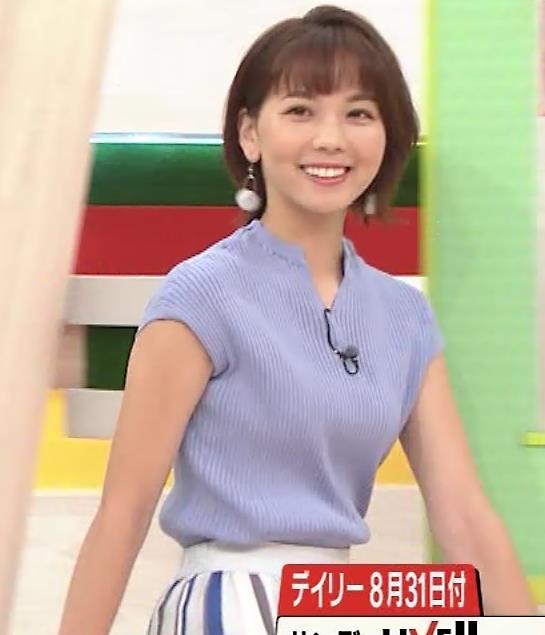 ヒロド歩美アナ 微妙なニット横乳キャプ・エロ画像3