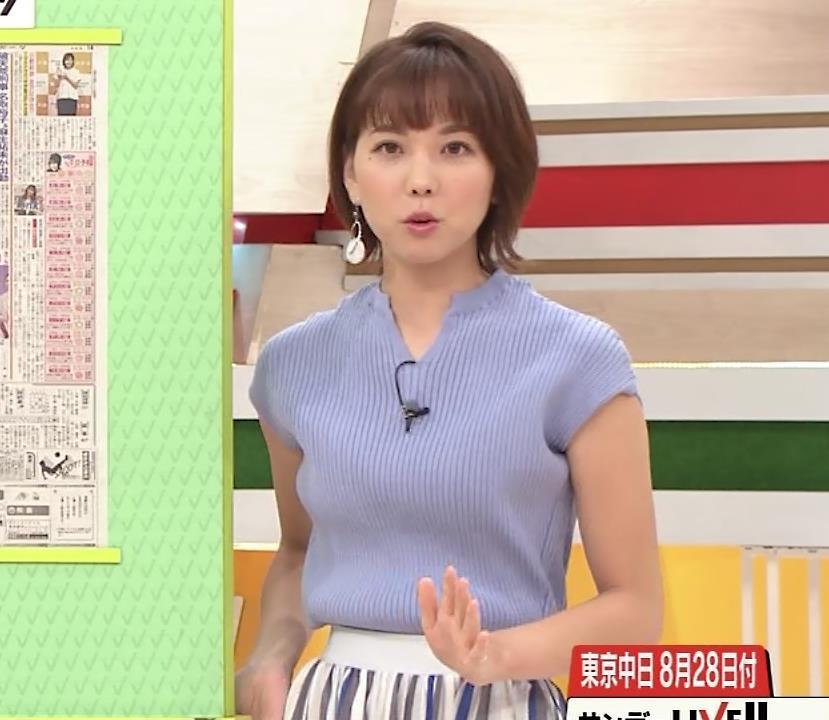 ヒロド歩美アナ 微妙なニット横乳キャプ・エロ画像5