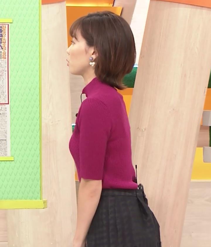 ヒロド歩美アナ ニット横乳キャプ・エロ画像