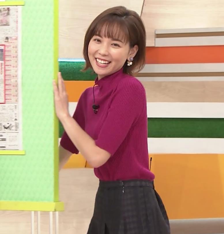 ヒロド歩美アナ ニット横乳キャプ・エロ画像4